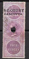 1866/68 India Bft:11 4R. LILLA. piccola causa Corte Calcutta ricavi.