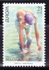 SELLOS TEMA EUROPA BELGICA 2001  1v. EL AGUA