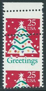 2515 25 Cent Flag Christmas Greetings Top Margin Misperf.