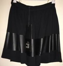 NWT HUNT NO MORE ' TO AND FRO SKIRT' IN BLACK - SIZE 6