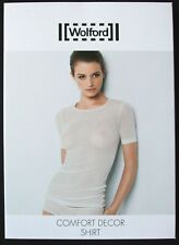 WOLFORD COMFORT DECOR SHIRT, TOP, SMALL, in whitewash 1146, New in box