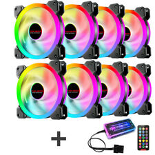 RGB LED FAN with Remote Control Quiet Computer Case Light PC Cooling Fan 120mm