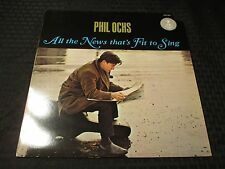 1988 Phil Ochs - All The News That's Fit To Sing LP RE EX/EX Carthage CGLP 4427