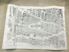 Antique London Map City Streets St Paul's Cathedral Victorian England 1873