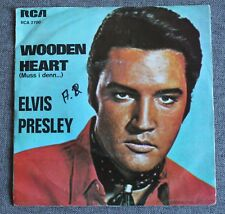Elvis Presley, wooden heart / tonight is so right for love,SP - 45 tours Holland