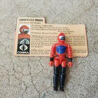 Vintage GI Joe Figure 1983 HISS Driver complete with file card