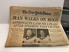 New York Times July 21, 1969 MAN WALKS ON MOON, complete newspaper
