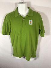 Men's Elevate 2010 Vancouver Olympics Green Polo Golf T-shirt Sz M