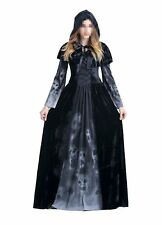 Women's Halloween Ghost Witch Hooded Costume Cloak Dress O... Free Shipping, NEW