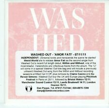 (EL756) Washed Out, Amor Fati - 2011 DJ CD