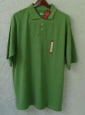 EZ`s HAGGAR Green Short Sleeve Polo Shirt Stain Guard Fade Resistant Size XL NWT