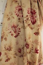 Antique French fabric Belle Epoque GORGEOUS floral panel curtain drape old