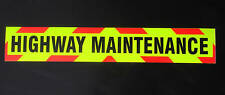 Highway Maintenance Fluorescent Warning Sign Medium 900mm Sticker
