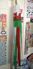"Welsh Flag 60"" Windsock Festival Camping Red Dragon Wales Cymru Beach Event bnip"