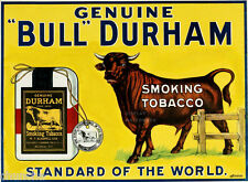 "Bull Durham sign  smoking tobacco 81/2"" x 11""  from 1910"