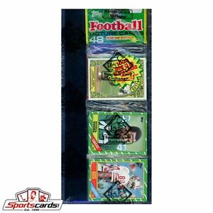 1986 Topps Football Rack Pack BBCE Certified -  Jerry Rice RC on Front!