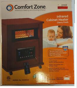 Comfort Zone CZ2032C Infrared Quartz Cabinet Heater with Remote