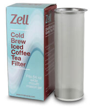Zell Cold Brew Coffee Stainless Steel Coffee & Iced Tea Maker Filter 64oz