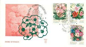 Repubblica, FDC Ala - Fiori (anemone, oleandro, rosa), 27/04/1981