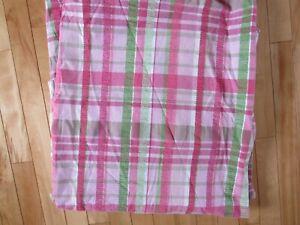 Nice Vintage Waverly Shower Curtain Cotton Seersucker Pink Green White Plaid