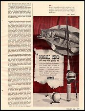 1958 Zebco Scottee 66 Fishing Reel Bass Wall Vintage Print Ad