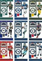 2019 PANINI CONTENDERS FOOTBALL SINGLES - ALL BASE CARDS # 1-100 - YOU PICK