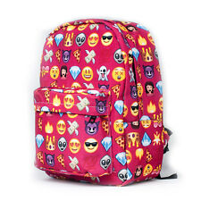 Red Travel Leisure Emoji Backpack Rucksack Shoulder Bag School Satchel Boy Girls