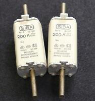 SIBA 2x NH-Sicherungseinsatz fuse-link 2000313 NH1 200A 500VAC - gL-gG