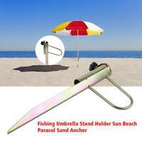 Outdoor Umbrella Holder Anchor Stake Beach Sand Stand Beach Shade Fishing SG