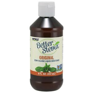 NOW Better Stevia Original Liquid Extract 8 fl oz. 237ml, Zero Calorie Sweetener