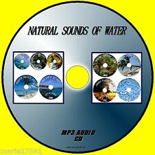 NATURAL SOUNDS OF WATER MP3 CD 9 TRACKS SEASPRAY BROOKS WATERFALL TROPICAL STORM