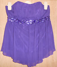 Papaya Purple Jewelled Fully Lined Ciffon Dressy Top size 12