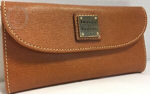 NWT*Dooney & Bourke*Saffiano Leather *Natural*Continental Clutch Wallet 17271i