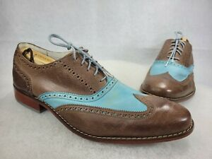 Cole Hann Air Rare Turquoise/ Brown Wing Tip Dress Shoes  Men's 13M C10033