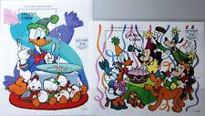 GHANA 1995 Block 267-68 S/S 1764-65 60th Bday Donald Duck Wald Disney Cartoon **