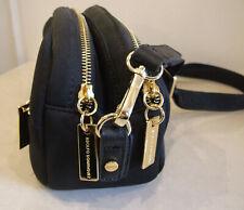 Designer Adolfo Dominguez Lovely Black Multi Compartment Crossbody Bag Handbag