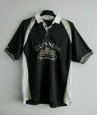 Hombres Camisa Polo De Rugby Guinness hecha de oro blanco negro Merch oficial más Talla L