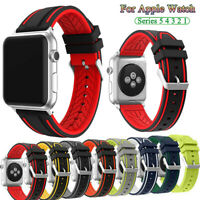 40/44mm 38/42mm Sport Silicone Band For Apple Watch iWatch 5 4 3 2 1 Wrist Strap
