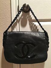 CHANEL Calfskin Modern Chain Flap Bag Black