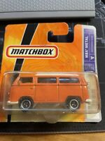 Matchbox Volkswagen T2 Bus/Camper Van - Orange w/White Roof - Boxed