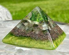 Orgonite? Orgone Pyramid (Mini 2 x 1.8 inches) - Quartz/Prehnite