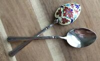 Antique Enamel and Sterling Silver Demitasse Spoon(s) Turner & Simpson c. 1932