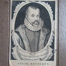 GRAVURE 18ème SIÈCLE AUGER GHISELIN DE BOUSBEQUE