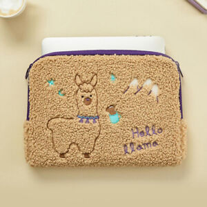 "Cute 11"" Bookle Llama Tablet ipad Padded Zipper Bag Pouch Case Pocket Pen Holder"