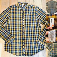 Mens BEN SHERMAN Long Sleeve Short Size M Medium Yellow/Blue Immaculate 21''