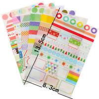 6pcs Transparent Calendar Scrapbook Diary Book Decor Paper Planner Sticker OHK