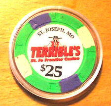 $25. TERRIBLE'S FRONTIER CASINO CHIP - Saint Joseph, Missouri