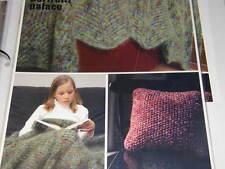 Artful Yarns Knitting Pattern 92217 Zig Zag Afghan Pillow