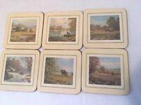 Clover Leaf Coasters Don Vaughan Landscapes Boxed Set of 6 Farm Scenes Vintage