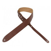 """Levy's M12-BRN Leather Guitar Strap 2"""" Brown"""